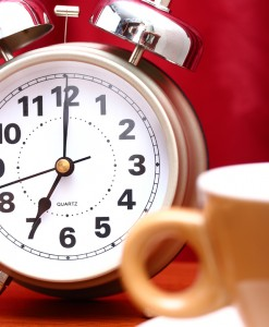 Time To Get Up With A Cup Of Coffee Early In The Morning